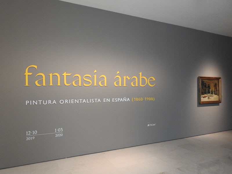 Vista del comienzo de la exposición Fantasía árabe