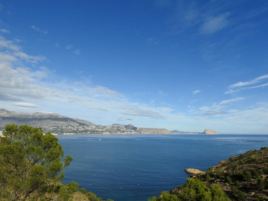 Vista del mar Mediterráneo