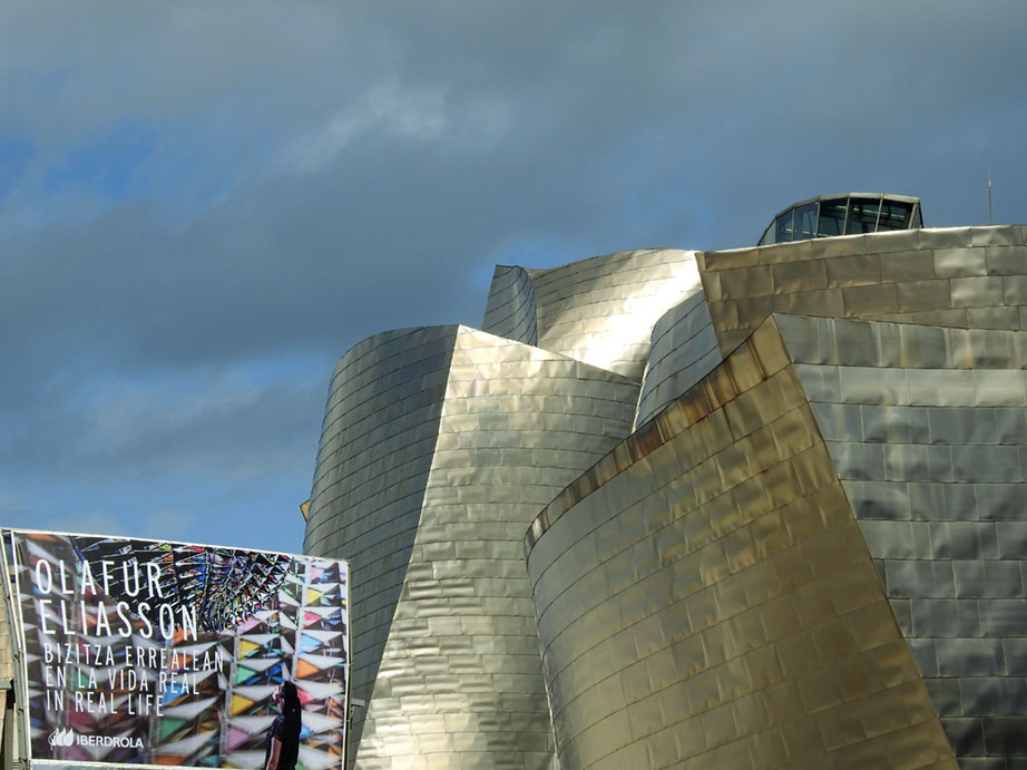 Imagen de la fachada del Museo Guggenheim de Bilao