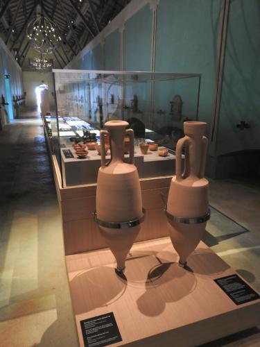 Ánfora de vino, forma Dresssel 1B, cultura romana. Procedencia itálica, siglo I a. C. Reproducción