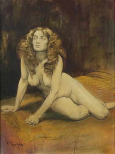Mujer desnuda recostada