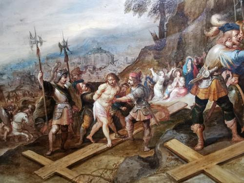 Jesús despojado de sus vestiduras (detalle)