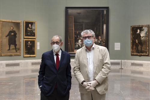 Javier Solana y Miguel Falomir