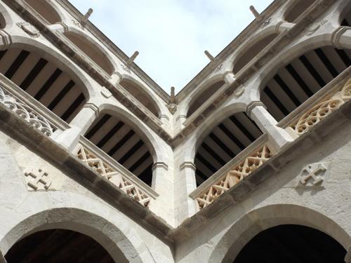 Detalle de las arcadas del patio