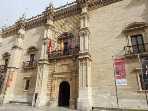 Detalle de la fachada del Palacio de Santa Cruz