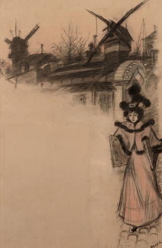 Estudio para el cartel Moulin de la Galette (1)