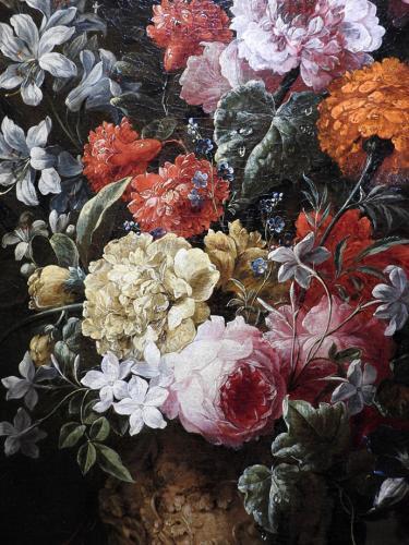 Flores en un jarrón (detalle)