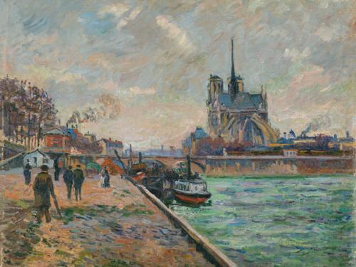 El puente del Arzobispado y el ábside de Notre-Dame de París, 1880