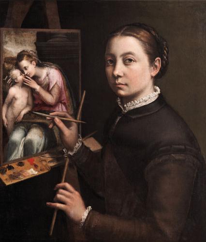 Autorretrato ante el caballete, 1556-57