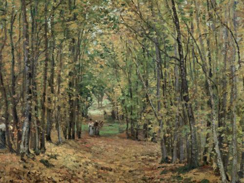 Camille Pissarro. El bosque de Marly, 1871