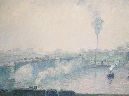 Camille Pissarro. Pont Boieldieu, Ruan, efecto de niebla, 1898