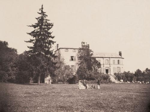 Château de La Faloise, al final de la mañana, 1856