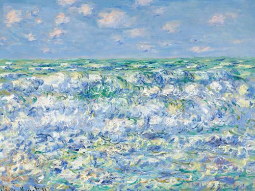 Claude Monet. Olas rompiendo, 1881.