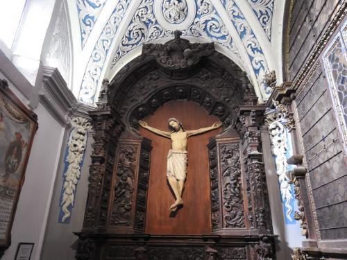 Cristo crucificado del siglo XIV en la sacristía de la ermita