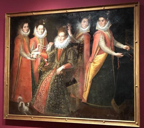 Dama con cuatro jóvenes (El arreglo de la novia), 1600-1605