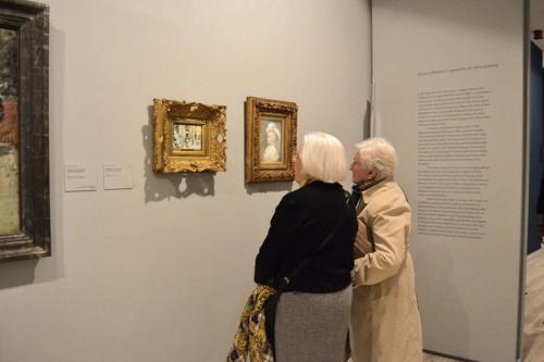 Detalle de dos de las salas expositivas en la Fundación Mapfre
