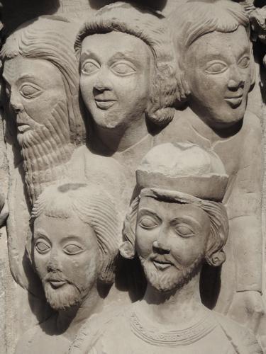 Detalle de los asistentes a la prédica de San Bartolomé desollado