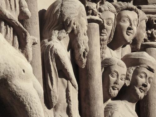 Detalle de la prédica de San Bartolomé desollado