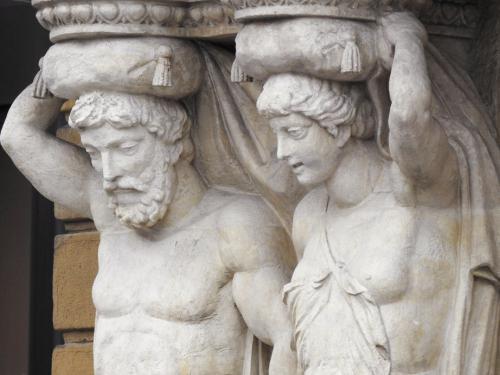 Detalle de las esculturas