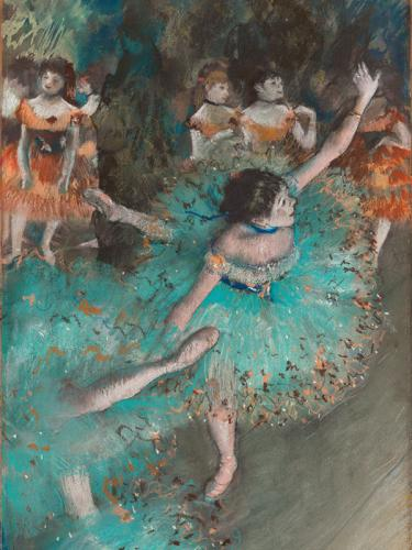 Bailarina basculando (Bailarina verde), 1877-1879