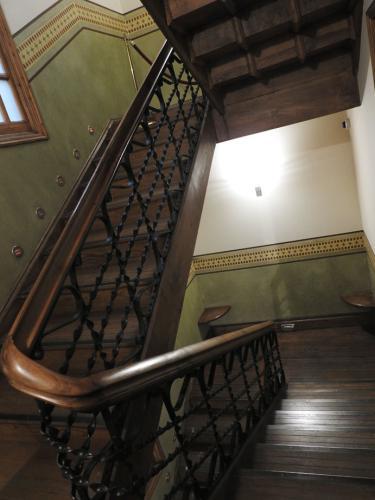 Escalera interior de la Casa de Botines