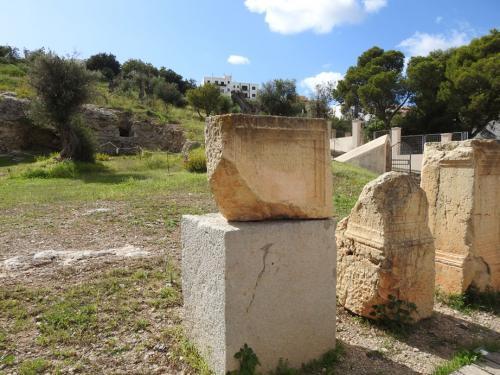 Lápidas romanas en la necrópolis del Puig des Molins