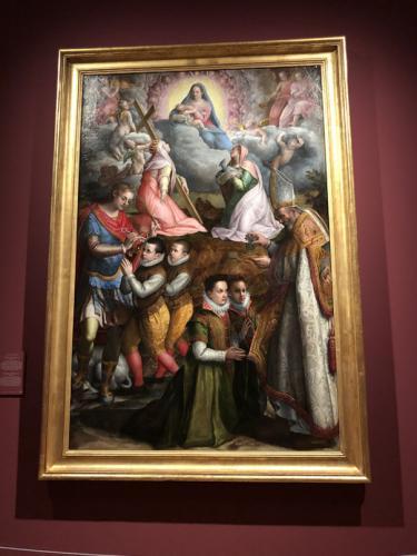 La consagración a la Virgen, 1599