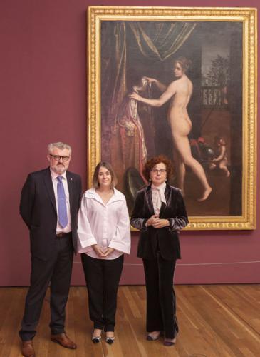 Miguel Falomir, Marta Rivera de la Cruz y Leticia Ruiz