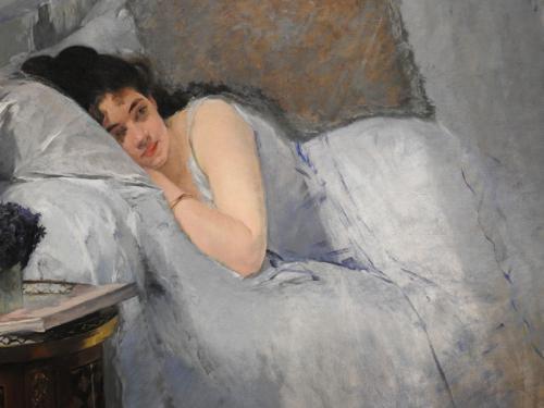 Muchacha al despertar (detalle), 1877-1878