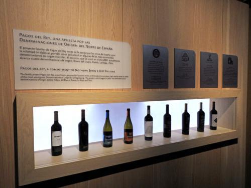 Muestrario de los vinos Pagos del Rey