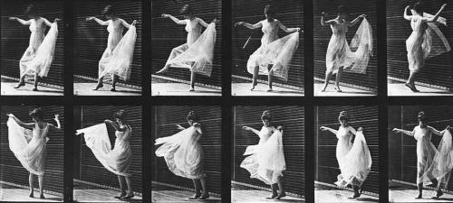 Mujer bailando, en Locomoción animal, lámina 189, 1887
