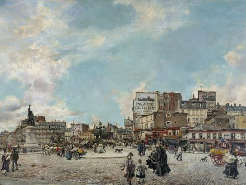 Place Clichy, 1874