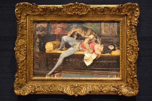 Paje jugando con un lebrel, 1869
