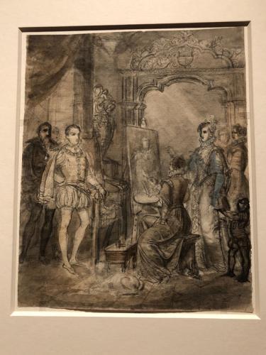 Pintora ante un caballete, 1842
