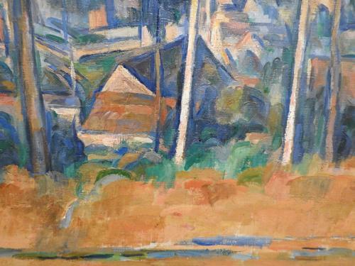 Pueblo entre árboles (Marines) (detalle), 1898