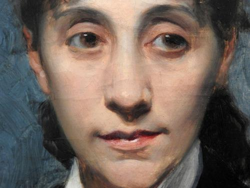Retrato de la hermana del artista (detalle), 1875