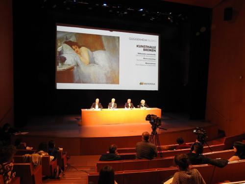 Rueda de prensa en el Auditorio del Museo Guggenheim Bilbao