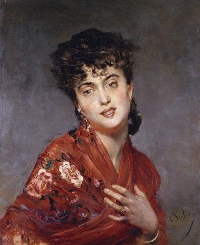 Scialle rosso, 1880
