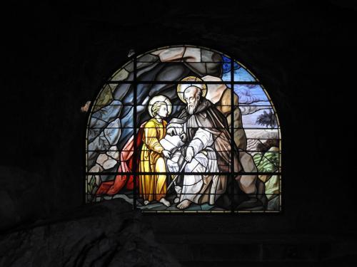 Vidriera con San Saturio y San Prudencio