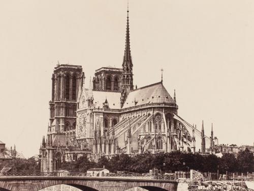 Vista posterior de Notre-Dame de París, 1860-1870