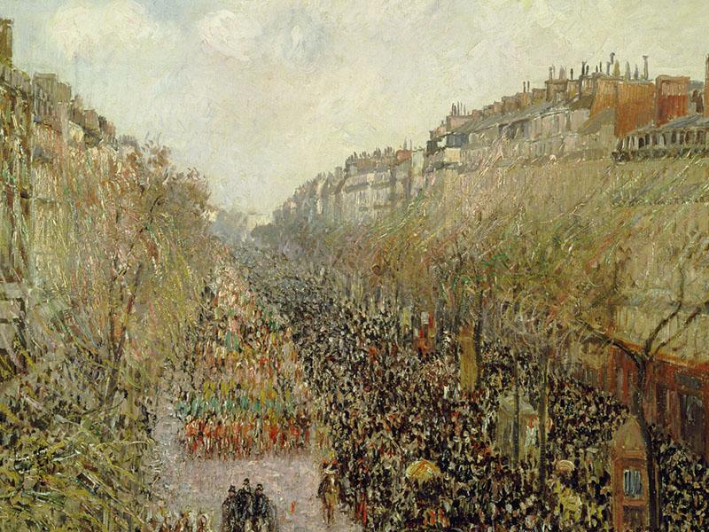 Camille Pissarro. Boulevard Montmartre, Mardi Gras, 1897