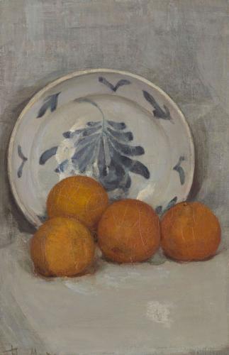 Naturaleza muerta con naranjas