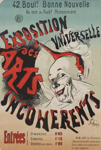 Cartel para Exposition Universelle des Arts Incohérents