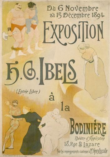 Cartel para la exposición H.G. Ibels